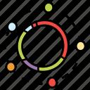 analytics, circle chart, data graph, data monitoring, pie chart, scatter chart, statistics icon