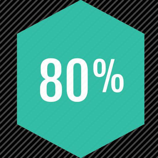eighty, graphic, info, percent icon