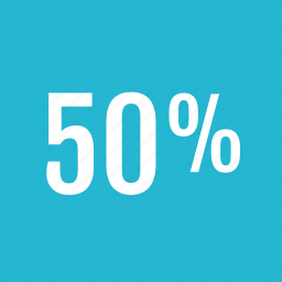 fifty, graphic, info, percent icon