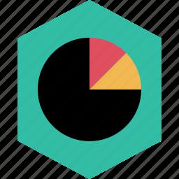 graph, graphic, info, pie icon