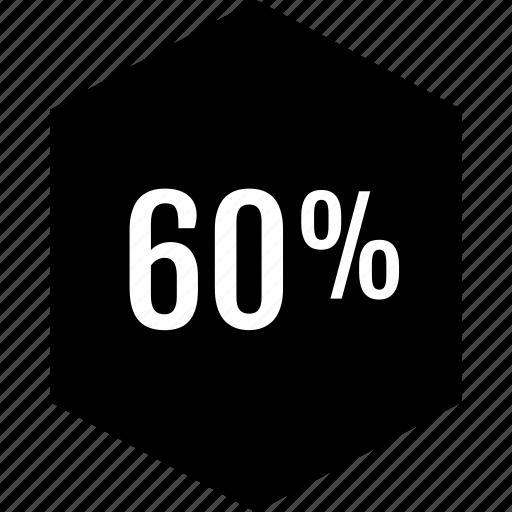 graphic, info, percent, sixty icon