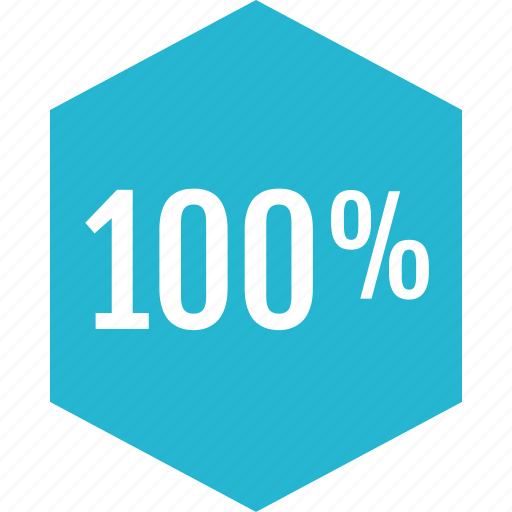 graphic, hundred, info, one, percent icon