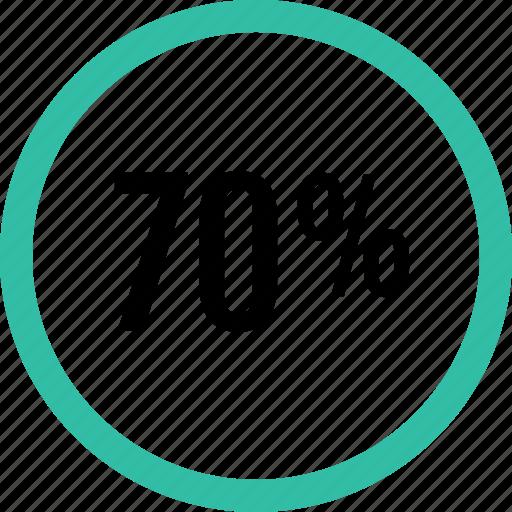 graphic, info, percent, seventy icon