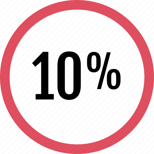 graphic, info, percent, ten icon