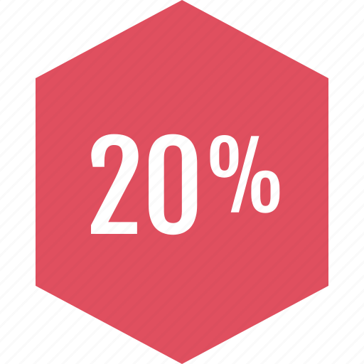 graphic, info, percent, twenty icon
