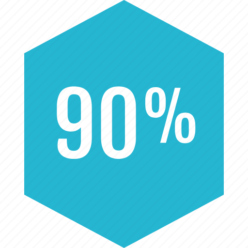 graphic, info, ninety, percent icon