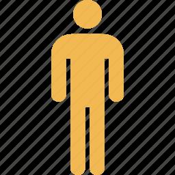 graphic, info, one, peson icon