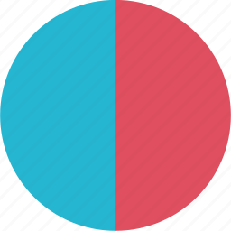 graphic, half, info, pie icon
