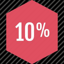 graphic, info, percent, ten icon