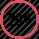 graphic, info, percent, twenty