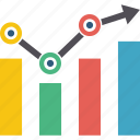 analytics, and, bar, business, chart, column, diagram, graph, infographic, point, statistics icon