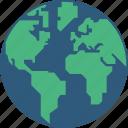 earth, globe, infographic, world icon