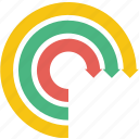 arrow, arrows, circular, direction, infographic icon