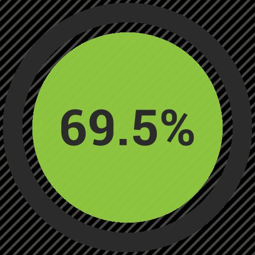 nine, percent, percentage, sixty icon