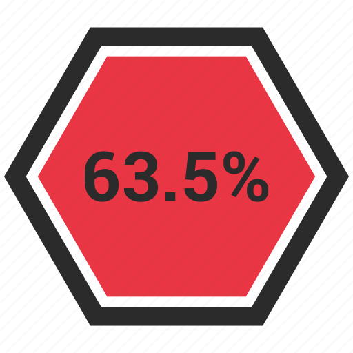 percent, percentage, sixty, three icon