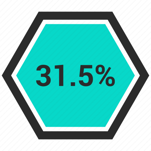chart, diagram, graph, one, percent, percentage, thirty icon