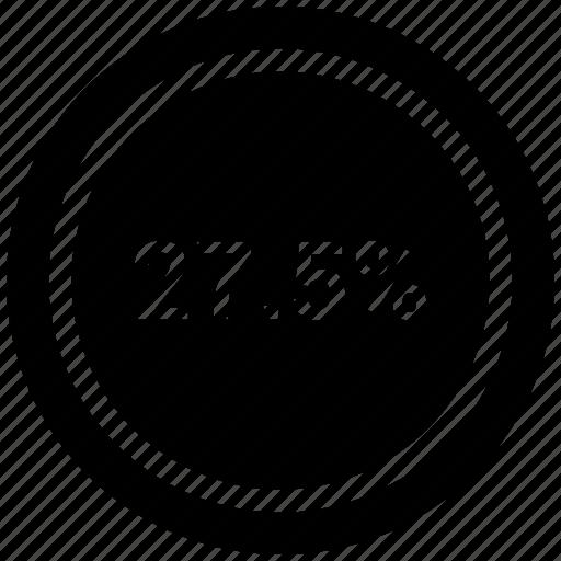 chart, diagram, graph, pie chart, seven, twenty icon