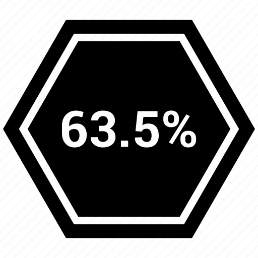 chart, graph, pie, sixty, statistics, three icon