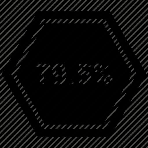 chart, graph, nine, pie, seventy, statistics icon