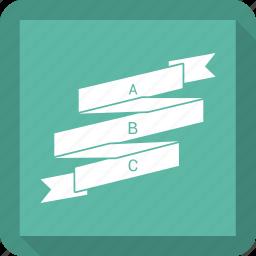 bar, bar chart, business, chart, graph, ribbon icon