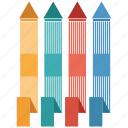 analytics, arrow, bar, business, chart, infographic icon