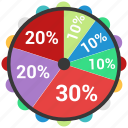 analytics, business, circle, infographic, target, trends icon