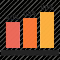 analytics, bar, charts, increase icon