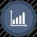analytics, bar, chart, increase