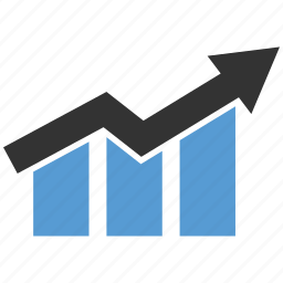 graph, money, profit, up icon