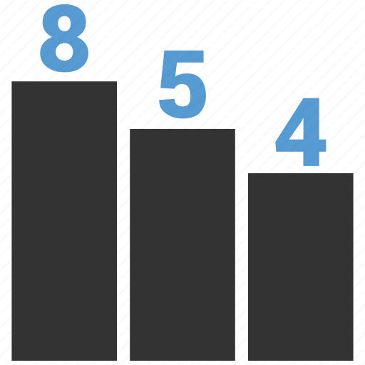 bar chart, graph, stat icon