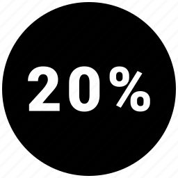 graphic, info, percent, twenty icon