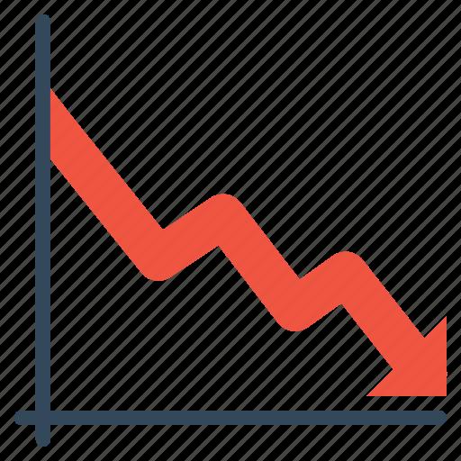 business, chart, decrease, failure, graph, report, statistic icon