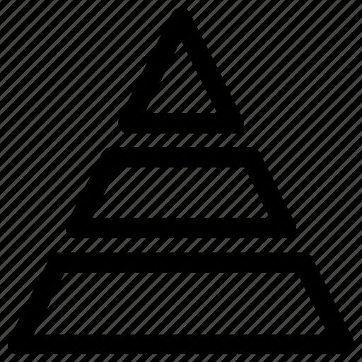 diagram, graphic, infographic, piramid icon