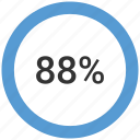 chart, count, eighty eight, number icon