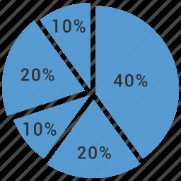 chart, graph, pie chart icon