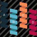 ascending chart, bar chart, bar graph, growth chart, infographic, progress chart, ribbon icon
