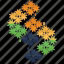 chart, diagram, graph, pattern, pie chart icon