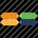 analytics, bar, chart, ribbon icon
