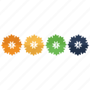 analytics, business, floral, graph, infographic, pattern, statistics icon