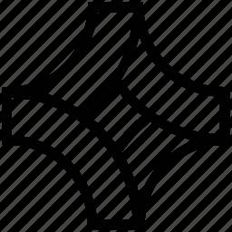 chart, distribution, graphic, pentagon, pentagonal chart icon