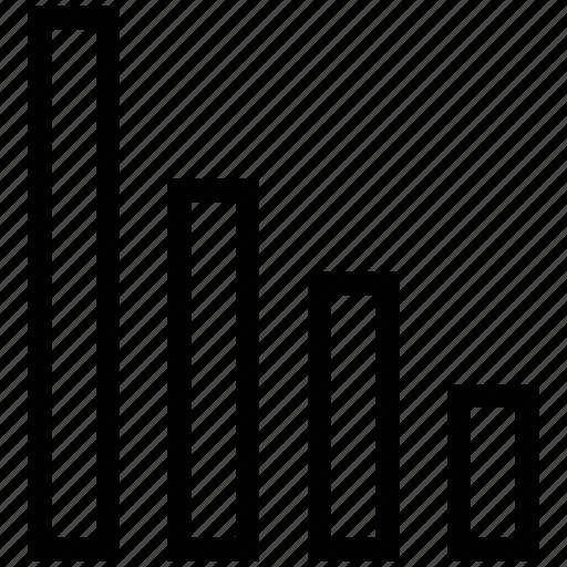 bar chart, bar graph, business chart, infographics, statistics icon