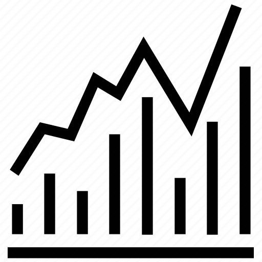 business evaluation, chart, financial chart, graph, line graph, zigzag chart icon