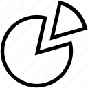 business chart, chart, circle graph, diagram, graph, pie chart icon