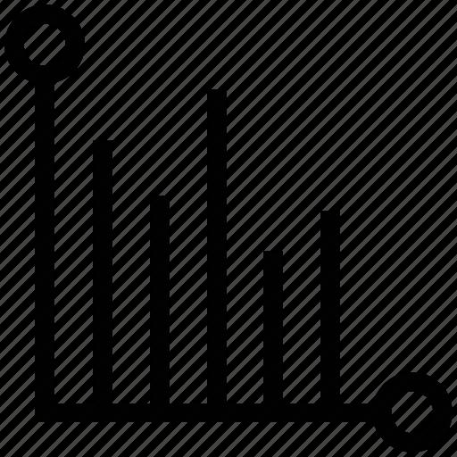 analytics, diagram, graphic, horizontal, horizontal bar chart, statistics icon