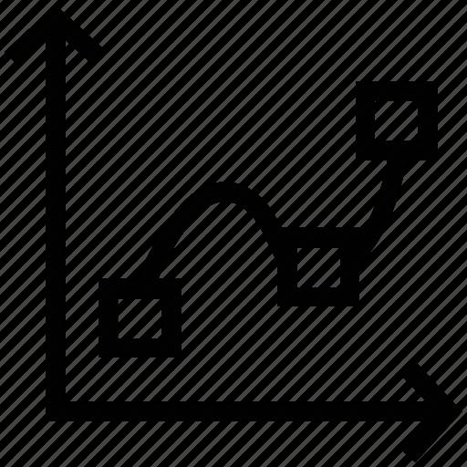 box graph, chart, development, graphic, increase icon