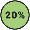 data, graphic, info, percent, twenty icon