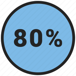 data, eighty, graphic, info, percent icon