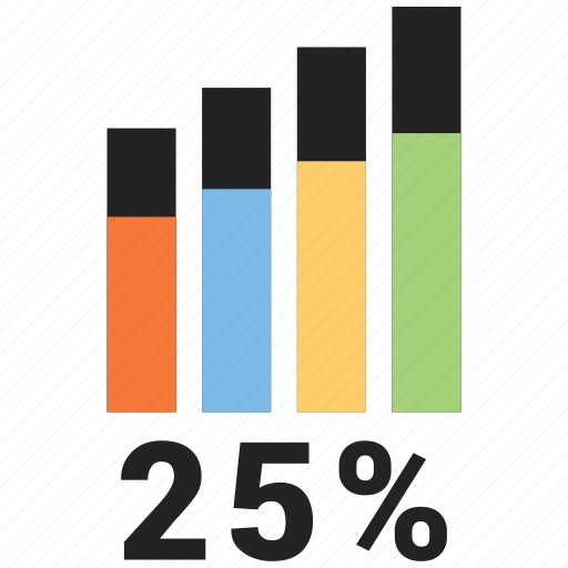 bars, business, data, graph icon