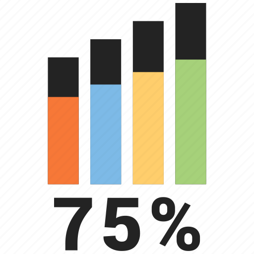 analytics, business chart, growth chart, infographic, progress chart icon