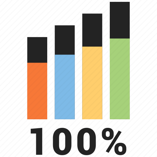 bars, business, data, graph, onehundred icon